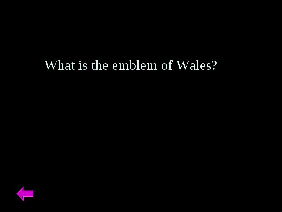 What is the emblem of Wales?