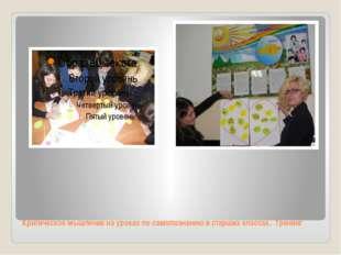 Критическое мышление на уроках по самопознанию в старших классах. Тренинг