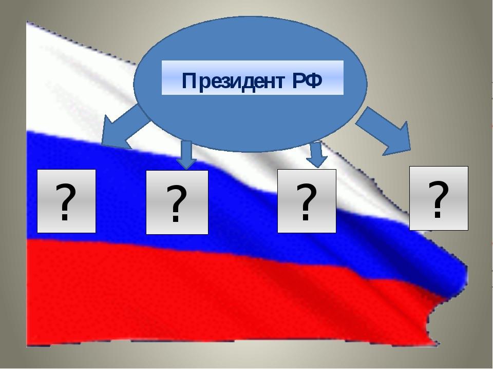 Президент РФ ? ? ? ?
