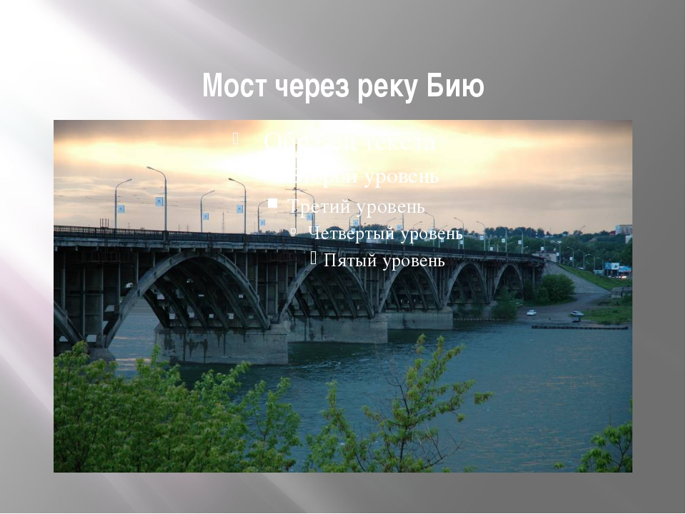 Мост через реку Бию