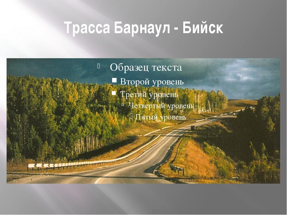 Трасса Барнаул - Бийск