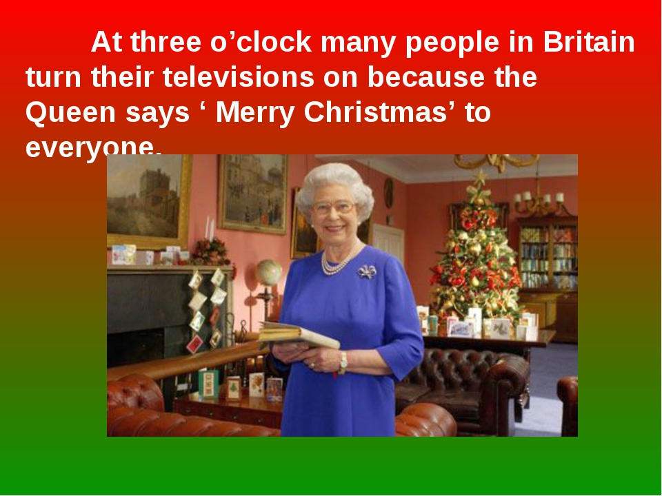 At three o'clock many people in Britain turn their televisions on because th...