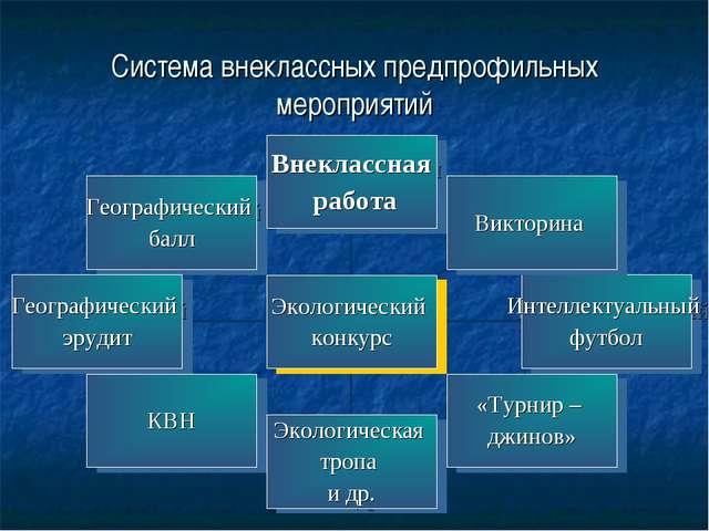 Система внеклассных предпрофильных мероприятий