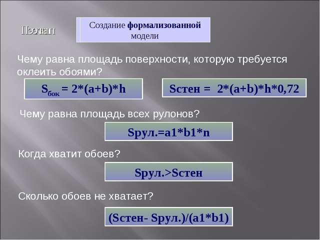 I этап Создание описательной информационной модели Создание формализованной м...