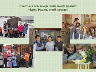 Участие в сетевом региональном проекте «Здесь Родины моей начало»