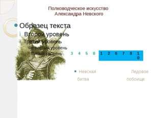 Полководческое искусство Александра Невского Невская Ледовое битва побоище 3