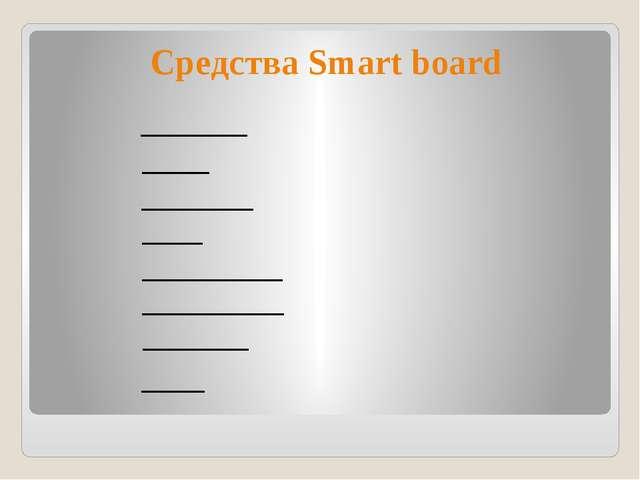 Средства Smart board