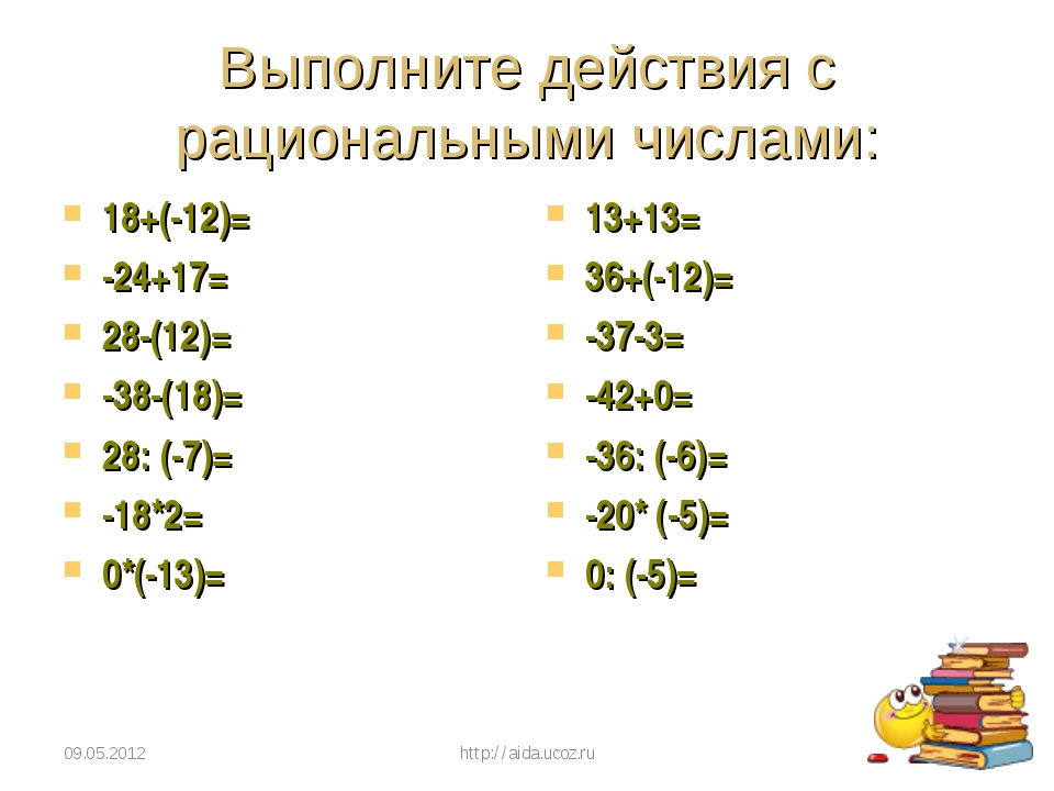 Выполните действия с рациональными числами: 18+(-12)= -24+17= 28-(12)= -38-(1...