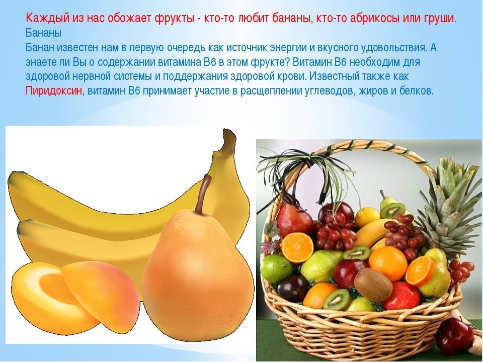 Каждый из нас обожает фрукты - кто-то любит бананы, кто-то абрикосы или груши...