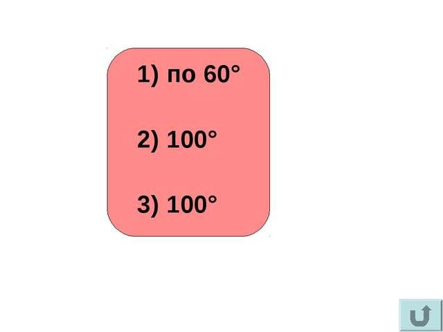 по 60° 100° 100°