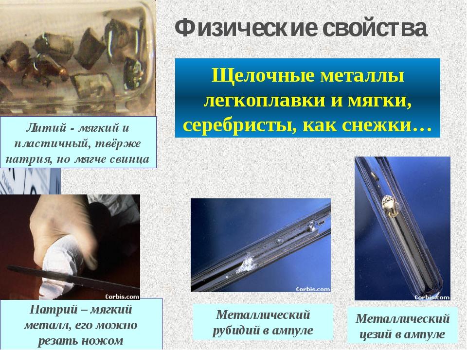 Щелочные металлы легкоплавки и мягки, серебристы, как снежки… Металлический ц...