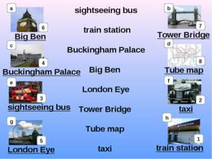 sightseeing bus train station Buckingham Palace Big Ben London Eye Tower Brid
