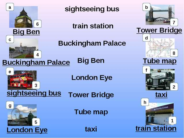 sightseeing bus train station Buckingham Palace Big Ben London Eye Tower Brid...