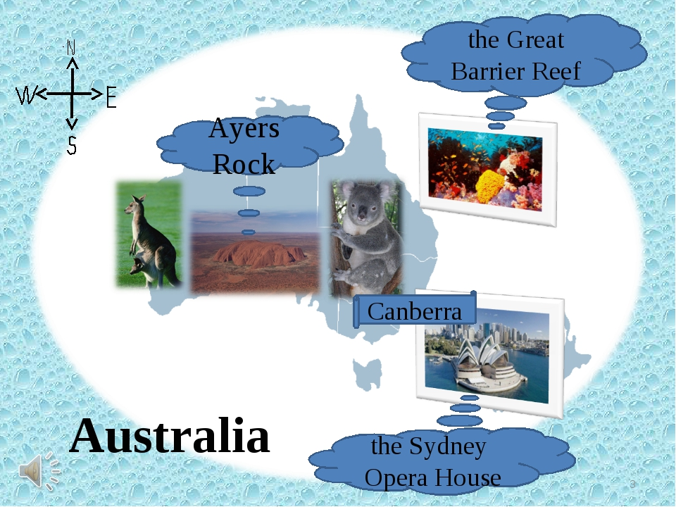 Australia Ayers Rock the Sydney Opera House the Great Barrier Reef Canberra *