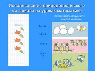 Использование природоведческого материала на уроках математики Какая запись п