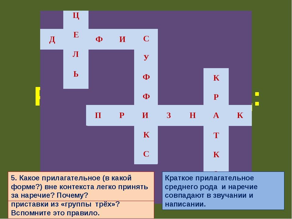 Реши кроссворд: 1.Что объединяет слова (ПО)ПРЕЖНЕМУ, (В)ТРЕТЬИХ, (КОЕ)КАК с т...