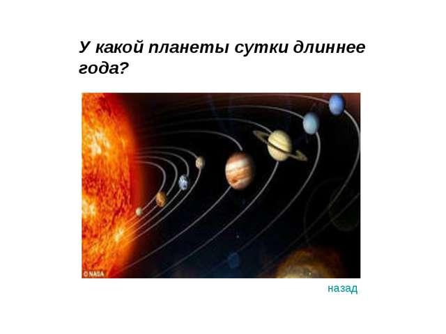 У какой планеты сутки длиннее года? назад