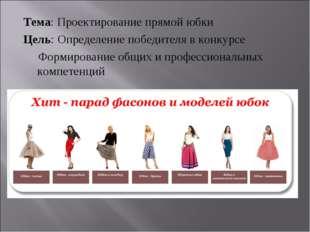 Тема: Проектирование прямой юбки Цель: Определение победителя в конкурсе Форм