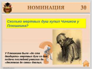 У Плюшкина было «до ста двадцати» мертвых душ со дня подачи последней ревизии