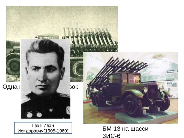 Одна из первых установок БМ-13 на шасси ЗИС-6 Гвай Иван Исидорович(1905-1960)