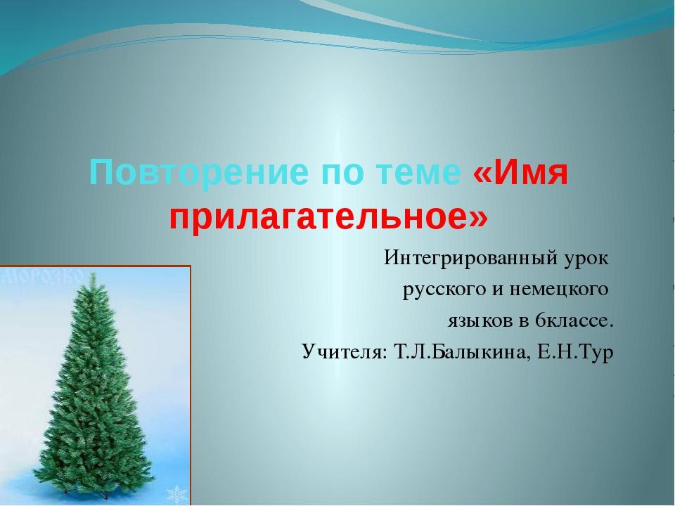 Повторение по теме «Имя прилагательное» Интегрированный урок русского и немец...