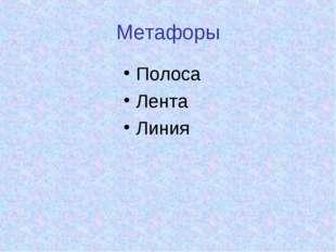Метафоры Полоса Лента Линия