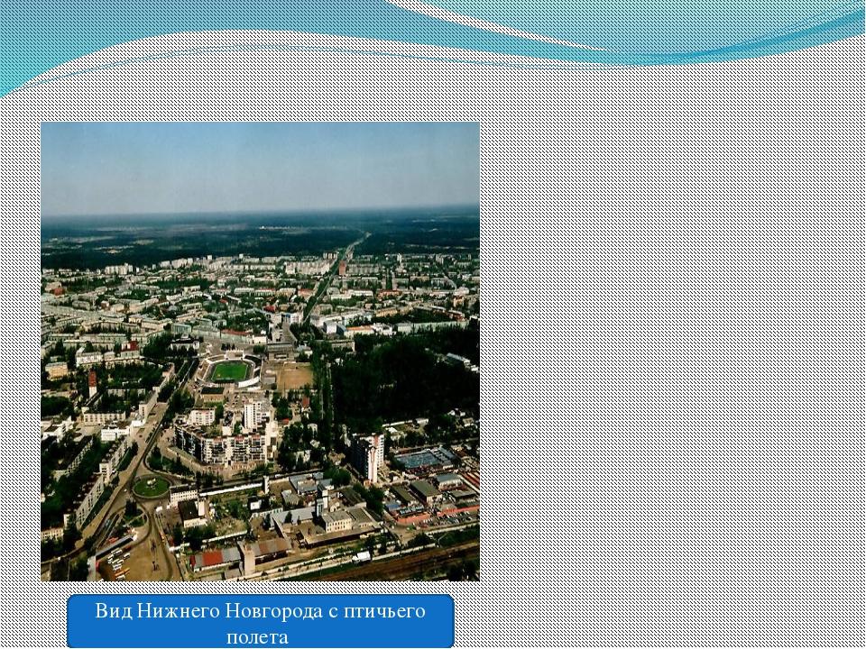 Вид Нижнего Новгорода с птичьего полета