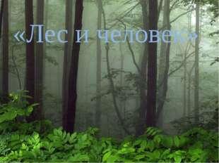 «Лес и человек» 121212313