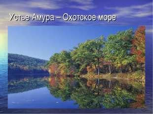 Устье Амура – Охотское море