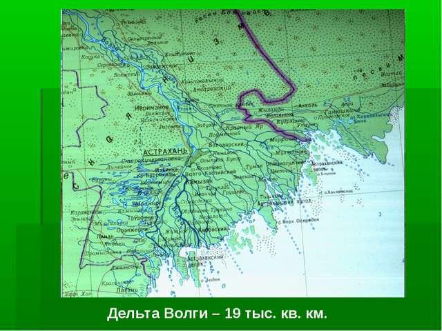 Дельта Волги – 19 тыс. кв. км.