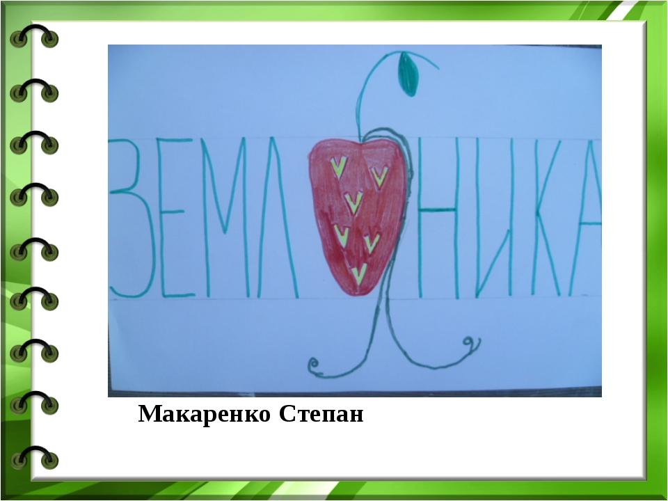 Макаренко Степан