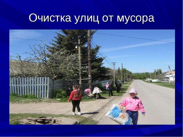 Очистка улиц от мусора