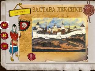 ЛЕКСИКА 20 30 10