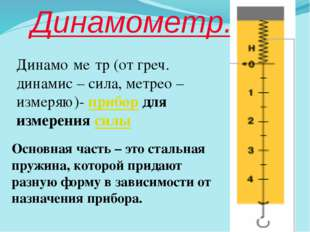 Динамометр.
