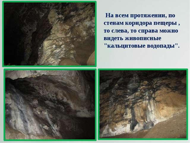 На всем протяжении, по стенам коридора пещеры , то слева, то справа можно ви...