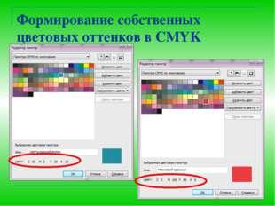 Формирование собственных цветовых оттенков в CMYK