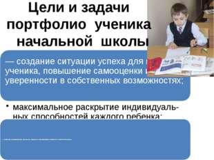 Цели и задачи портфолио ученика начальной школы