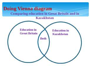 Doing Vienna diagram Comparing education in Great Britain and in Kazakhstan E