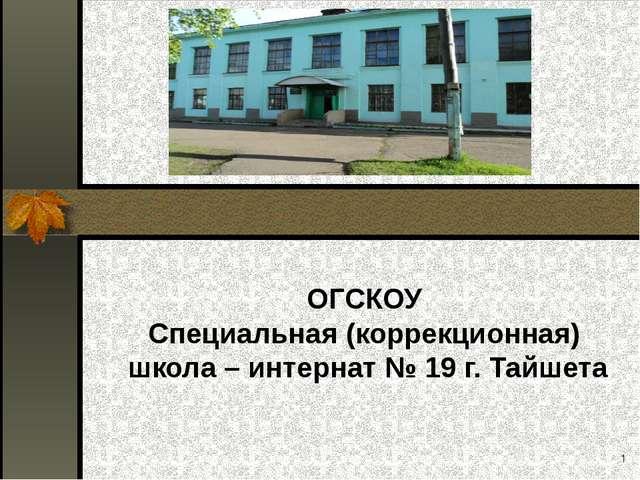 ОГСКОУ Специальная (коррекционная) школа – интернат № 19 г. Тайшета *