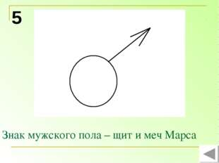 Знак мужского пола – щит и меч Марса 5