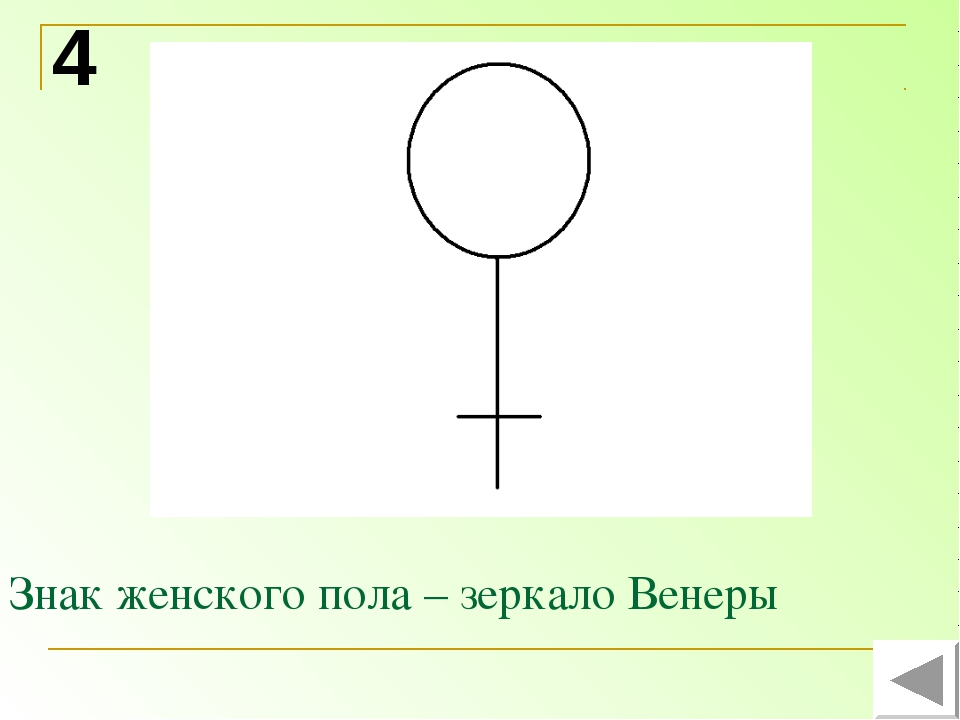 Знак женского пола – зеркало Венеры 4