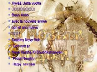 Hyvää Uutta vuotta 明けましておめでとうございます Buon Anno avec la nouvelle