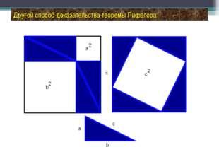Другой способ доказательства теоремы Пифагора