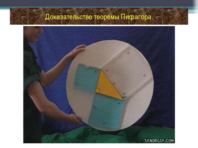 Доказательство теоремы Пифагора.