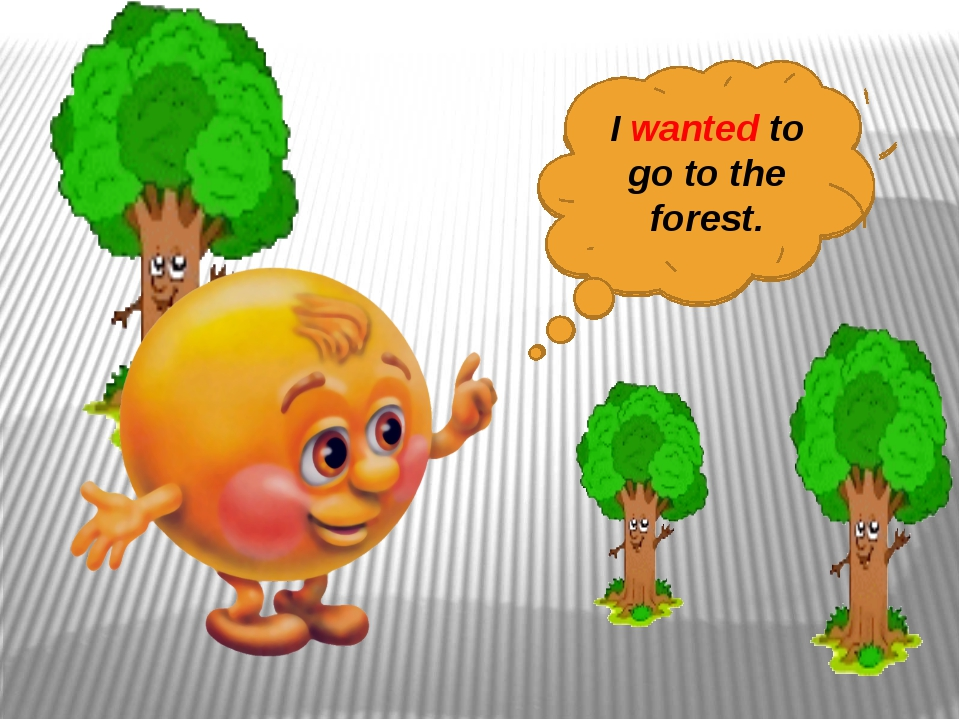I want to go to the forest. I wanted to go to the forest.