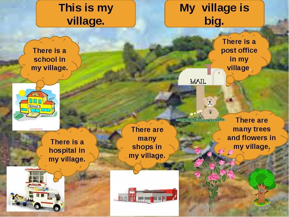 This is my village. My village is big. There is a post office in my village....