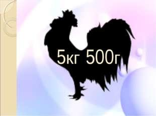 5кг 500г