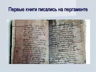 Первые книги писались на пергаменте