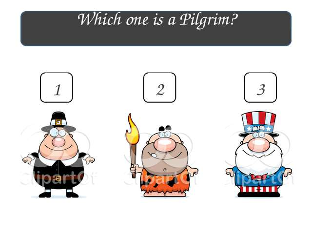 Which one is a Pilgrim? 1 2 3