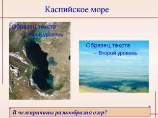 Каспийское море В чем причины разнообразия озер? http://3.bp.blogspot.com/_Ru